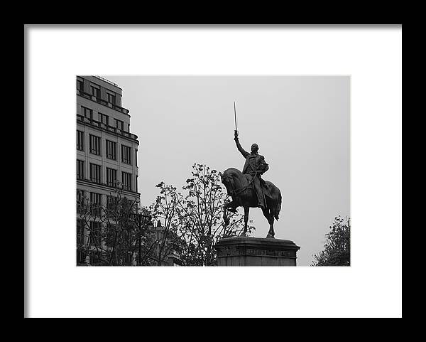 Paris Framed Print featuring the photograph Paris Honors Washington by Eric Tressler