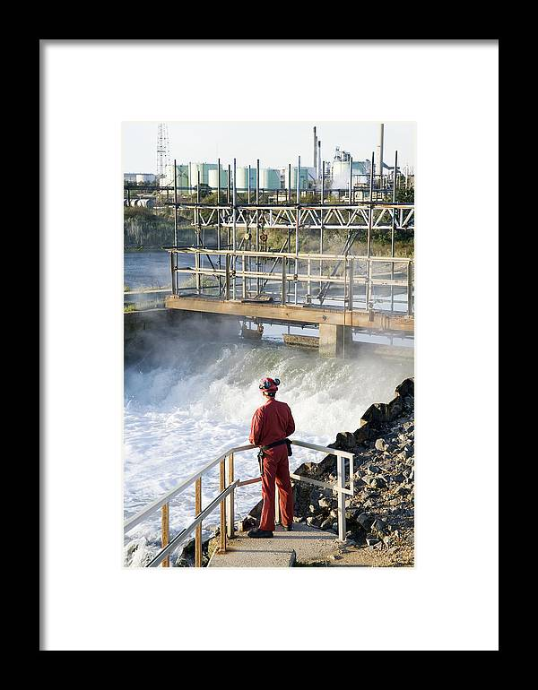 Fawley Refinery Framed Print featuring the photograph Waste Water Monitoring by Paul Rapson