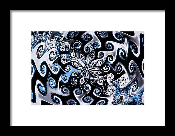 Abstract Framed Print featuring the photograph Water And Oil by Tashia Peterman