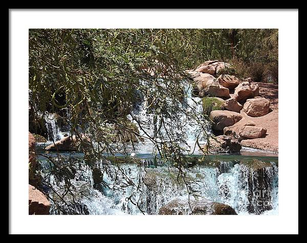 Water Fall Framed Print featuring the photograph Water by Bruce Borthwick