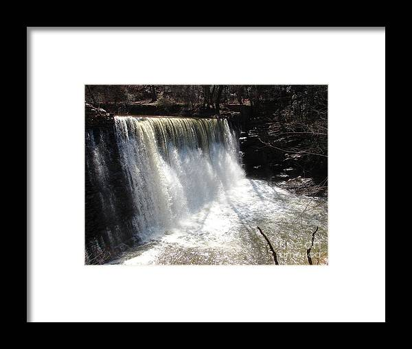 Water Framed Print featuring the photograph Water Fall by Artie Wallace
