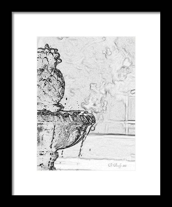 Waterfountain Framed Print featuring the photograph Water Fountain 1 by Donna Bentley