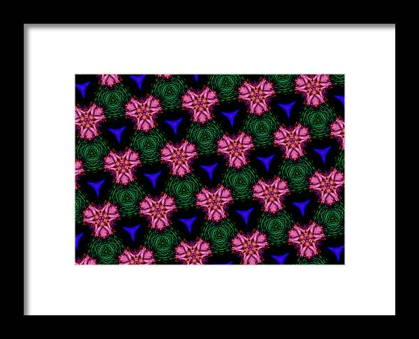 Water Lilies Framed Print featuring the digital art Water Lilies by J Burns