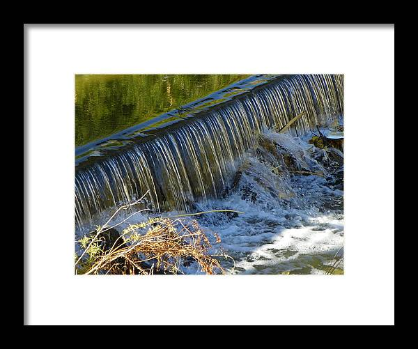 Water Framed Print featuring the photograph Water Over The Dam by Vicky Mowrer
