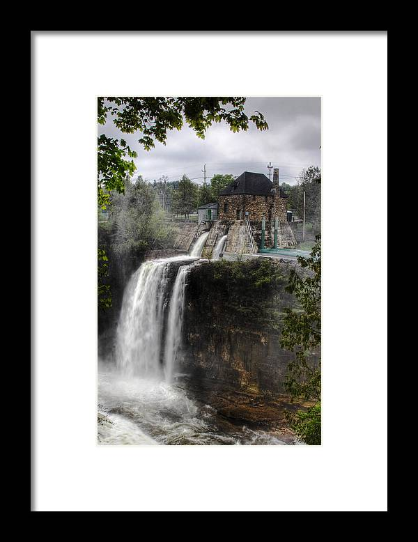 Ausable Chasm Framed Print featuring the photograph Water Power Generator by Kean Poh Chua