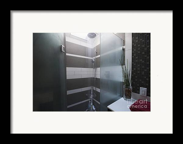 Bathroom Framed Print featuring the photograph Water Turned On In A Shower by Marlene Ford