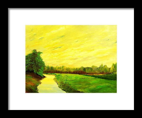 Landscape Framed Print featuring the painting Water Valley by Nelson
