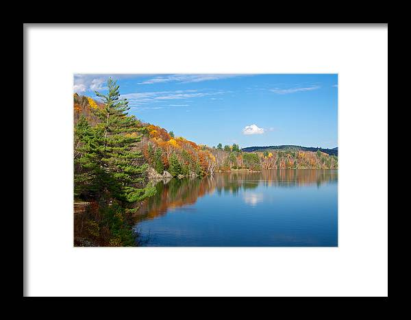Autumn Framed Print featuring the photograph Waterbury Reflection by Mike Horvath