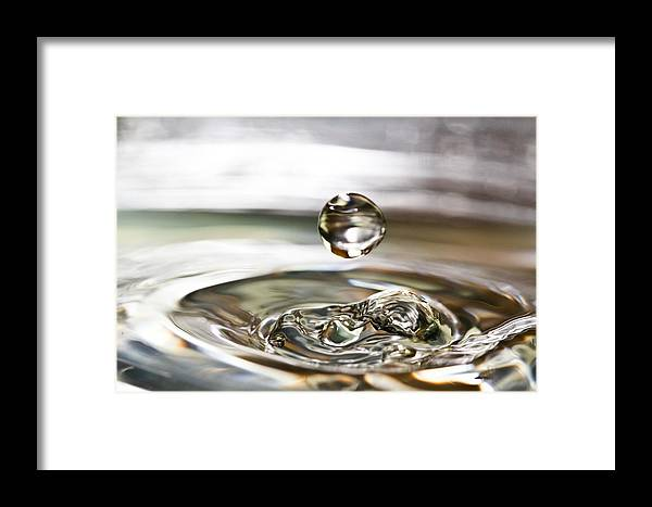 Water Drop Framed Print featuring the photograph Waterdrop5 by Danielle Silveira