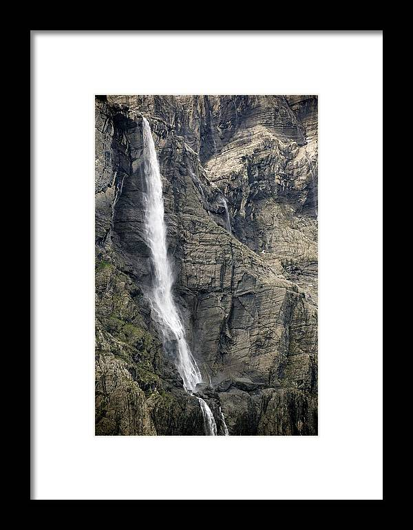 Waterfall Framed Print featuring the photograph Waterfall by Bob Gibbons