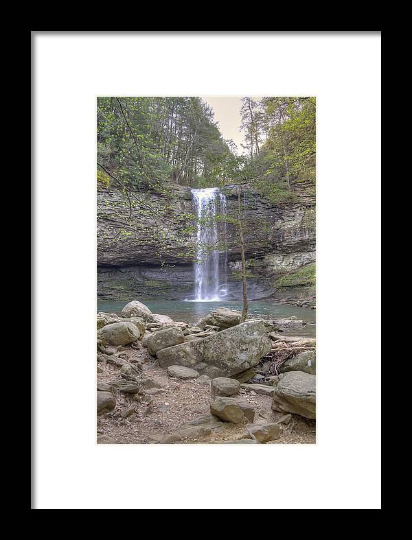 Waterfall Framed Print featuring the photograph Waterfall by David Troxel