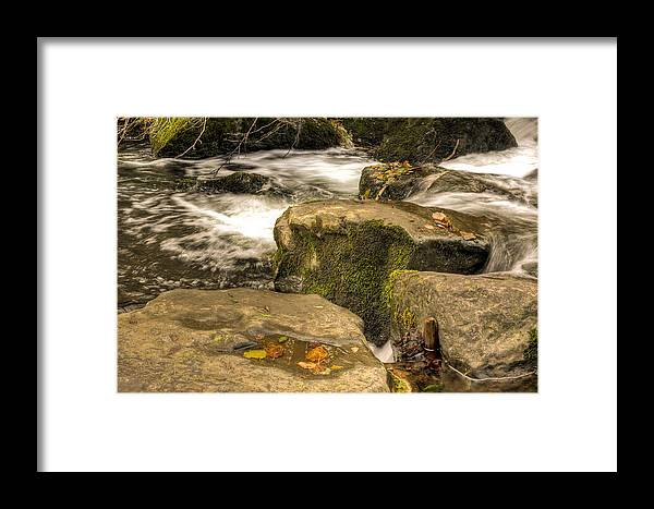 Waterfall Framed Print featuring the photograph Waterfall In Fall by Steve Purnell