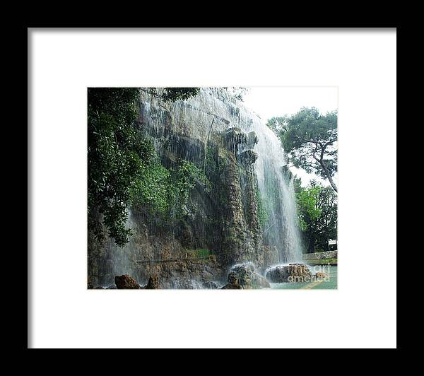 Nice Framed Print featuring the photograph Waterfall in Nice by Amalia Suruceanu