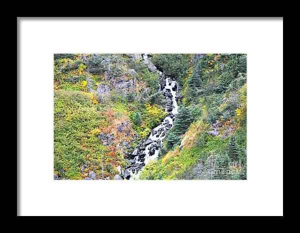 Skagway Framed Print featuring the photograph Waterfall In Skagway by Pamela Walrath