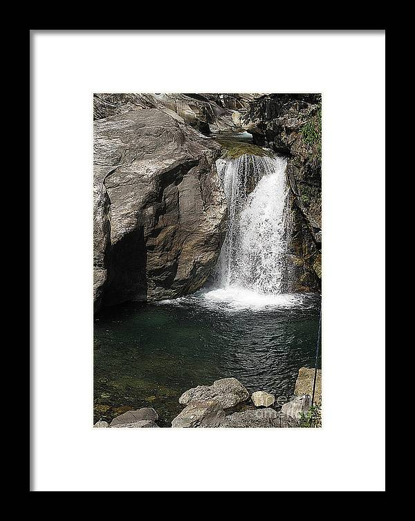 Nepal Framed Print featuring the photograph Waterfalls Nepal by Louise Peardon