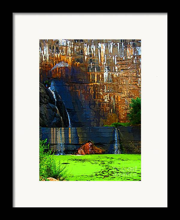 Waterfall Framed Print featuring the photograph Watson Lake Waterfall by Julie Lueders