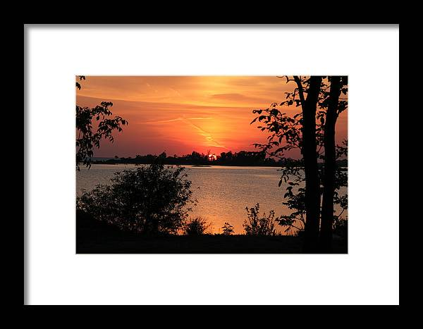 Waubaushene Framed Print featuring the photograph Waubaushene Sunset by Don Downer