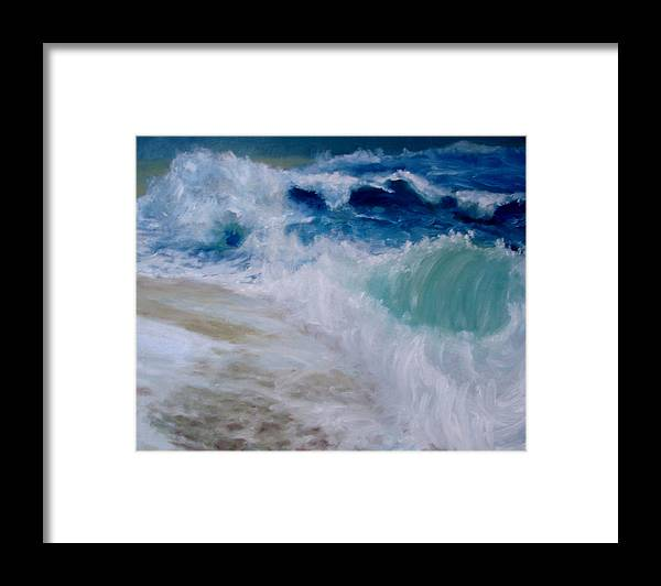 Ocean Framed Print featuring the painting Wave Dance by Graham Keith