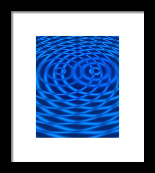 Wave Framed Print featuring the photograph Wave Interference Patterns, Artwork by Victor De Schwanberg
