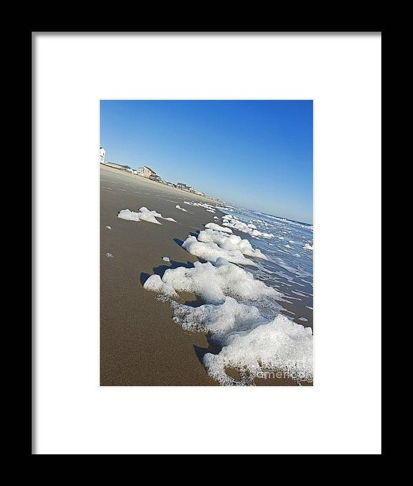 Foam Framed Print featuring the photograph Wave Recedes by Beebe Barksdale-Bruner