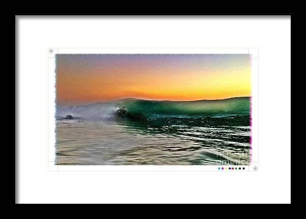 Beach Framed Print featuring the photograph Wave Runner by Sebastian Acevedo