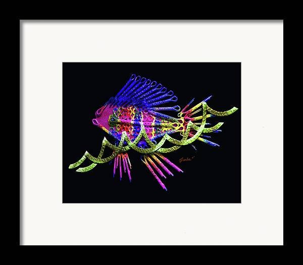 Wave Surfer Framed Print featuring the digital art Wave Surfer by Charles Carlos Odom