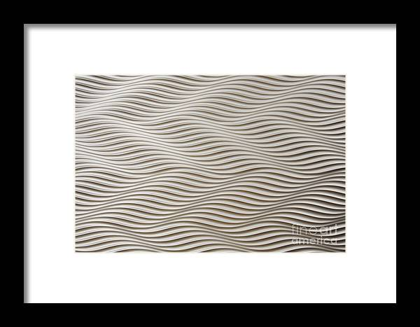 Abstract Framed Print featuring the photograph Waves And Stripes Background by Roberto Giobbi