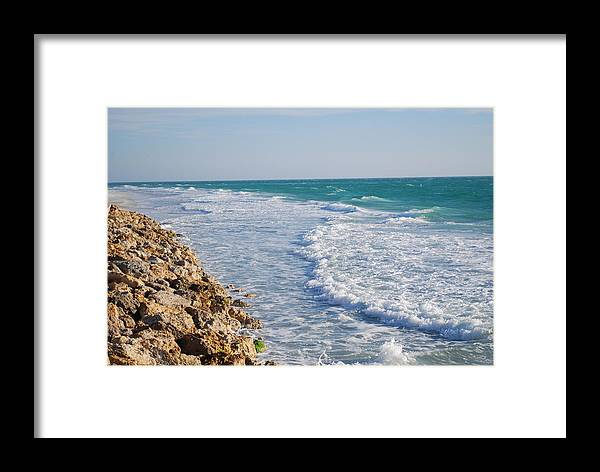 Beach Framed Print featuring the photograph Waves At The Beach by Carrie Munoz