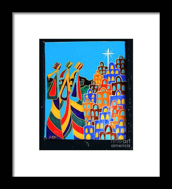 Reverse Painting On Glass Framed Print featuring the photograph We Three Kings by David Carter