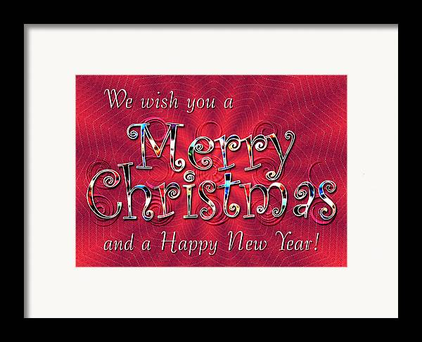Christmas Framed Print featuring the digital art We Wish You A Merry Christmas by Susan Kinney