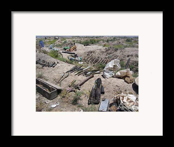 Ammo Framed Print featuring the photograph Weapons Caches by Stocktrek Images