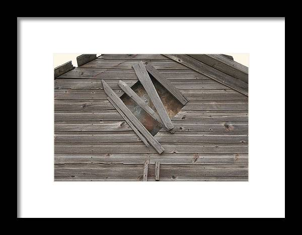 Old Framed Print featuring the photograph Weathered Barn by David Kleinsasser