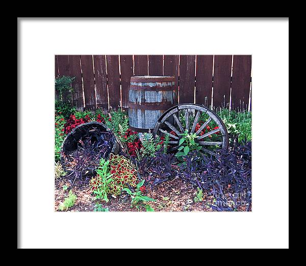 Scenic Framed Print featuring the photograph Weathered Wood Art by Terry Cotton