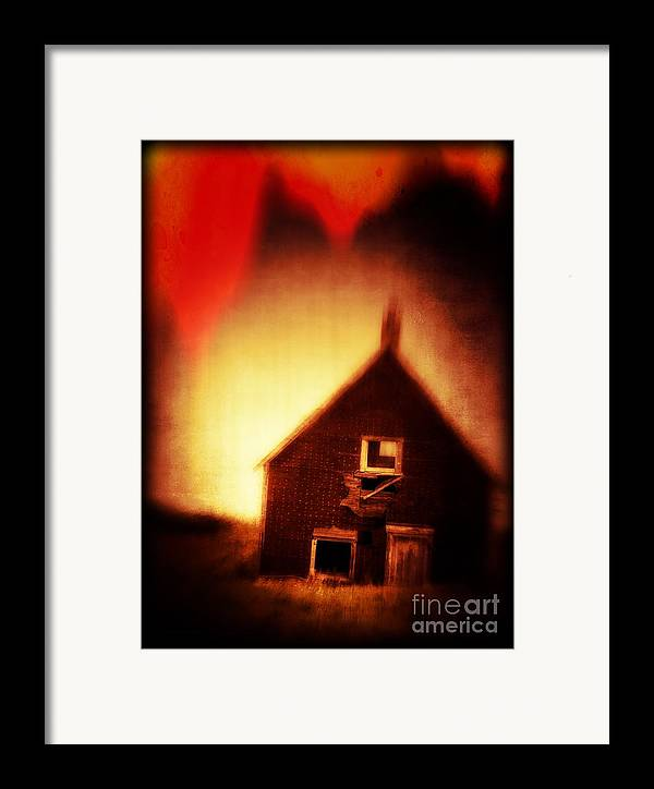 Scary Framed Print featuring the photograph Welcome To Hell House by Edward Fielding