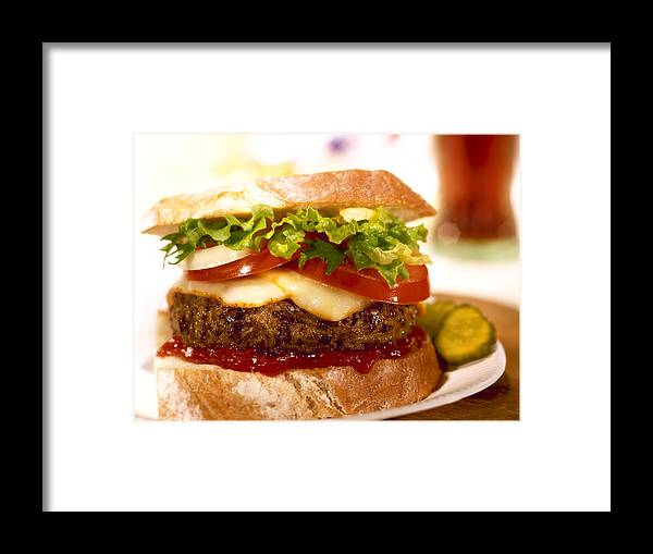 Hamburger Framed Print featuring the photograph Wendy's Burger by Federico Arce