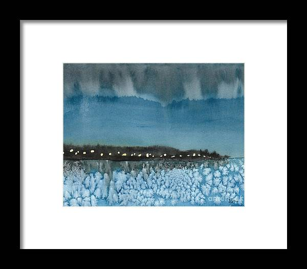 Landscape Framed Print featuring the painting West Seattle by Scott Alberts