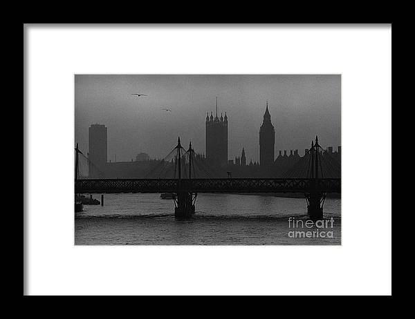 Foggy London Framed Print featuring the painting Westminster on a Foggy Day by Aldo Cervato