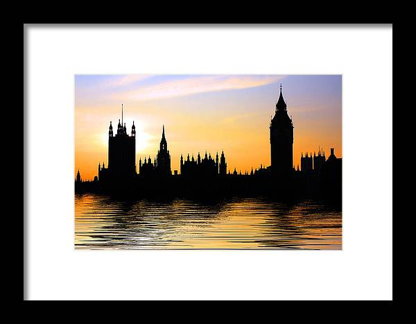 Parliament Framed Print featuring the photograph Westminster Silhouette by Phil Clements