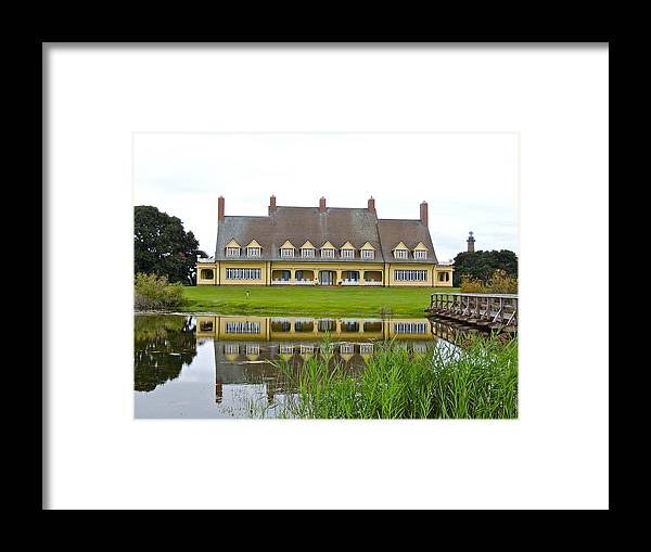 Currituck Lighthouse Framed Print featuring the photograph Whalehead House With Currituck Lighthouse by Eve Spring