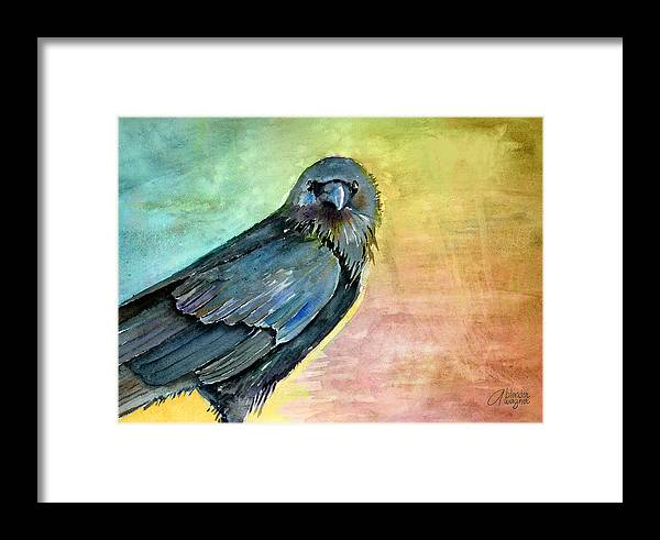 Bird Framed Print featuring the painting What Are You Looking At by Arline Wagner