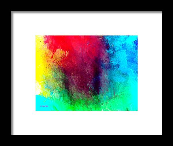 Abstract Framed Print featuring the painting What Can One Do by Charles Yates