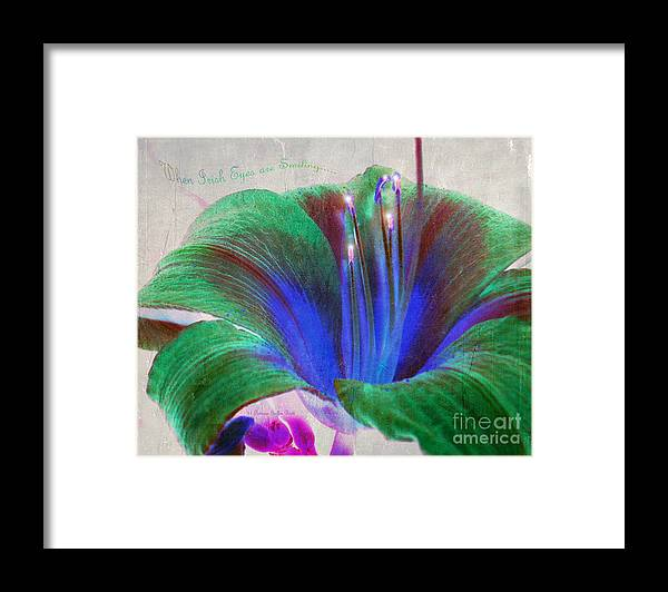 Floral Art Framed Print featuring the photograph When Irish Eyes are Smiling by Patricia Griffin Brett