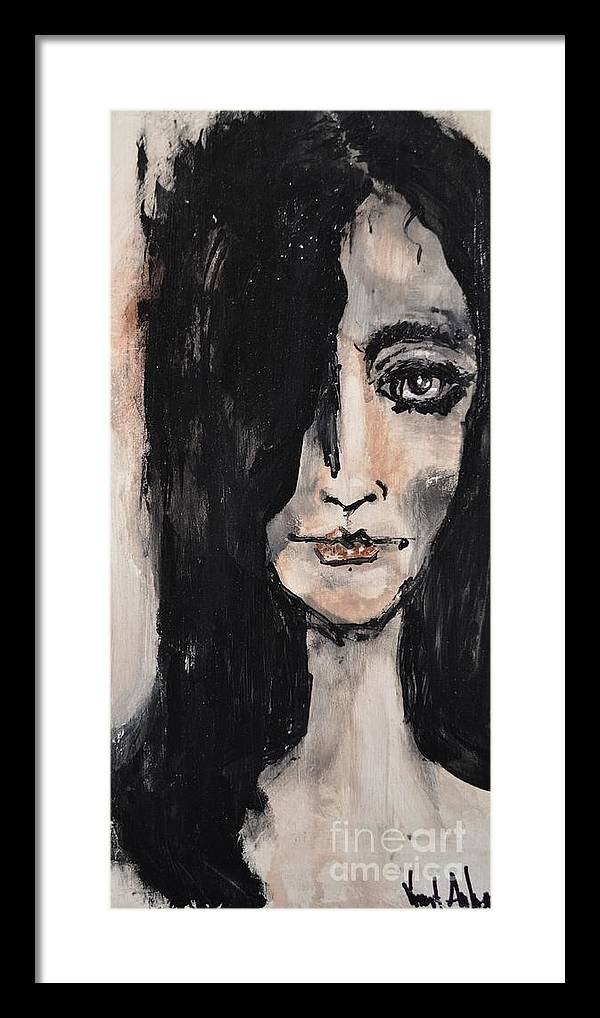 Woman Framed Print featuring the painting When The Truth Comes by Vincent Avila