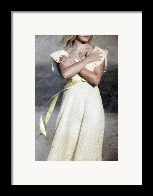 Woman Framed Print featuring the photograph When The Wind Blows by Joana Kruse
