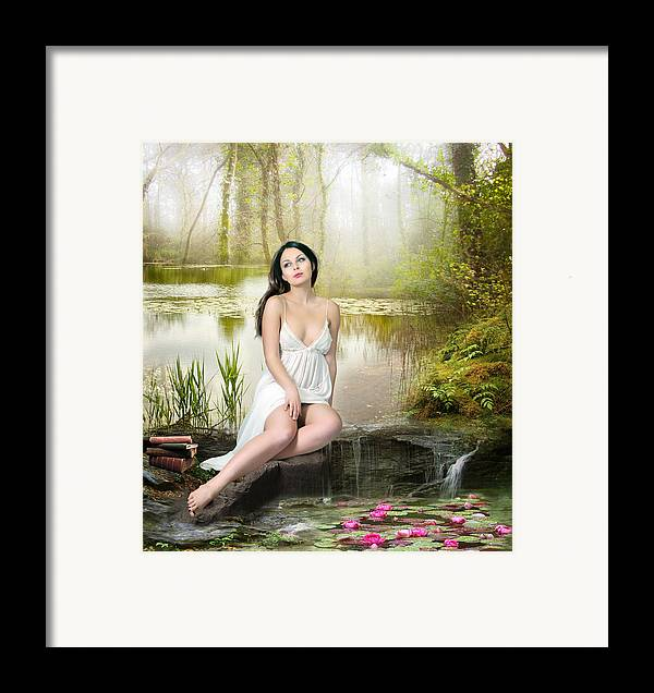 Woman Framed Print featuring the digital art Where Secrets Are Kept by Mary Hood