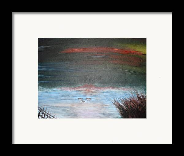 Landscape Framed Print featuring the painting Where The Life Meets The Horizon by Prasenjit Dhar