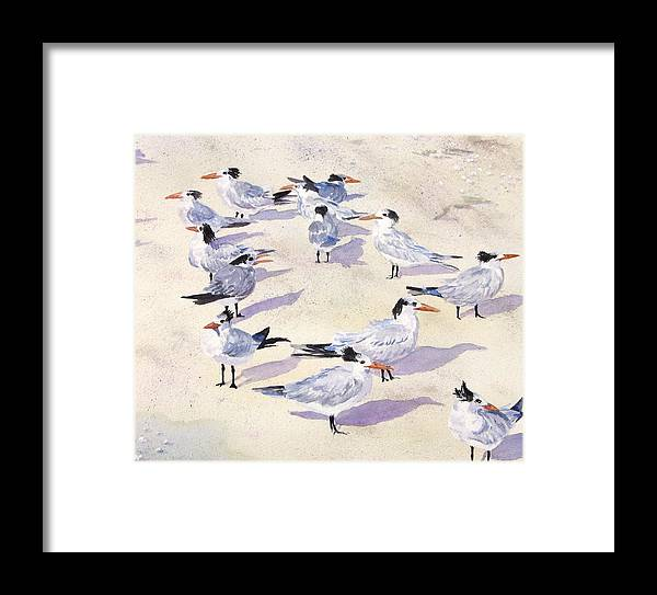 Birds Framed Print featuring the painting Which Way Is The Wind Blowing by Anita Riemen