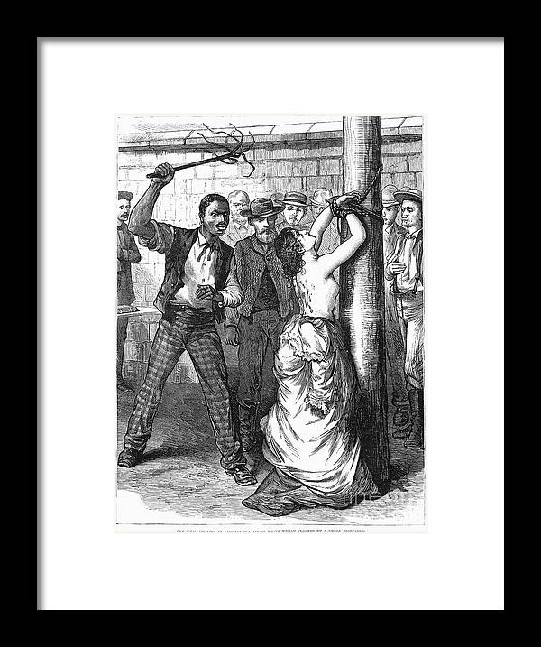 1878 Framed Print featuring the photograph Whipping Post, 1878 - To License For Professional Use Visit Granger.com by Granger