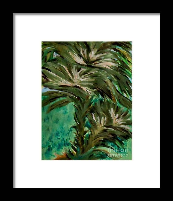 Flowers Framed Print featuring the painting White Bird Of Paradise Tree by Marie Bulger