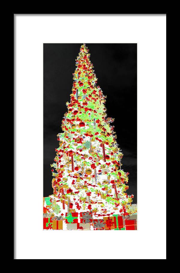 White Christmas Framed Print featuring the digital art White Christmas by J Burns